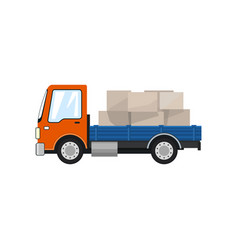 Small cargo truck isolated vector