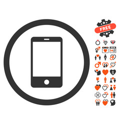 Smartphone icon with dating bonus vector
