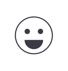 smile emoji line icon sign vector image