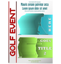 sport event poster golf vector image