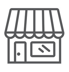 Store line icon business and market shop vector