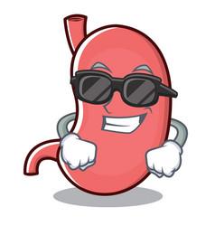 Super cool stomach character cartoon mascot vector