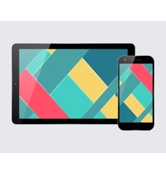 Tablet smartphone set vector image