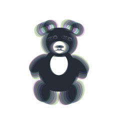 teddy bear sign colorful vector image