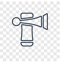 Trumpet concept linear icon isolated on vector
