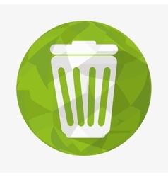 waste icon design vector image