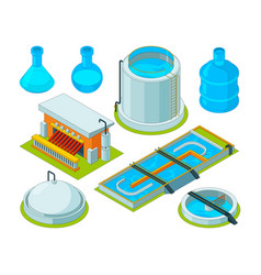Water cleaning watering treatment waste vector
