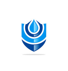 water protection shield logo vector image