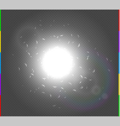 abstract white explosion spark space modern design vector image