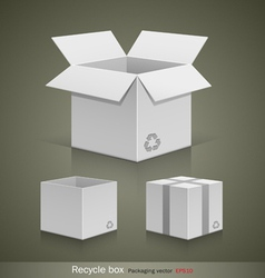 Collection recyele white box vector