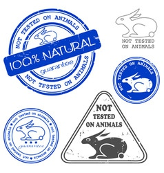 not tested on animals stamp vector image vector image