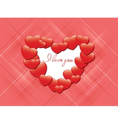 red romantic card - I love you vector image vector image