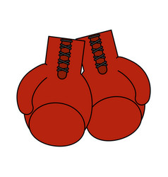 boxing gloves icon image vector image vector image