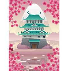 Japanese Castle vector image