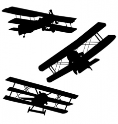 old airplanes vector image