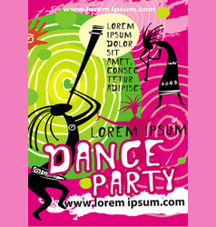 party poster background template vector image vector image