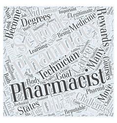 Pharmacy Schools A Closer Look Word Cloud Concept vector image