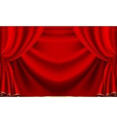 Red theater curtain vector image vector image