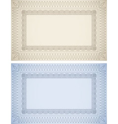 Certificate Backgrounds vector image vector image