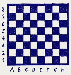 Chessboard with letters and numbers vector image vector image