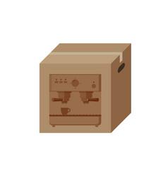 coffee machine in box vector image