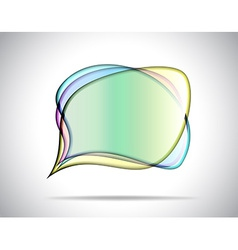 Colorful glass plates vector image