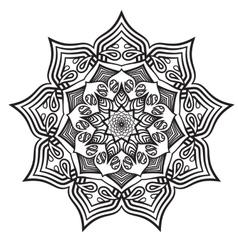mandala black white relax pattern vector image vector image