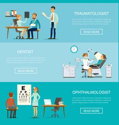 medical examination horizontal banners vector image