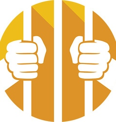 Prison Cell Icon vector image