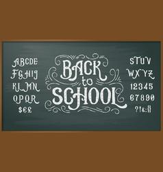 retro font capital letters vector image