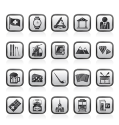 Switzerland industry and culture icons vector image