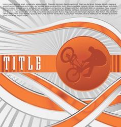 dynamic sport series bmx vector image vector image
