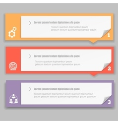 Infographics Design template with numbered vector image