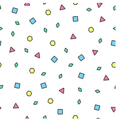 Mosaic seamless pattern memphis style vector