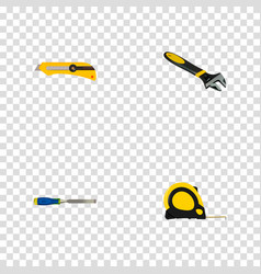 Realistic wrench length roulette chisel and vector