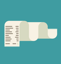 receipt icon in a flat style isolated on a vector image