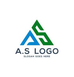 a s logo concept initial as vector image