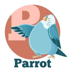 ABC Cartoon Parrot2 vector image