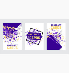 abstract collection of banners cards posters vector image