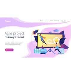 Agile project managementconcept landing page vector