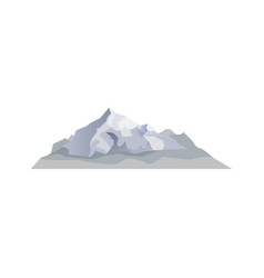 alpine mountain isolated icon vector image
