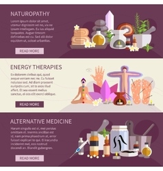 Alternative Medicine Banners vector