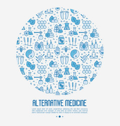 alternative medicine concept in circle vector image