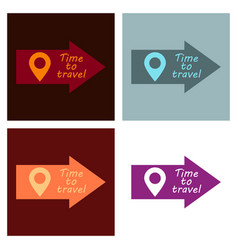 Arrow location icon pin sign navigation map gps vector