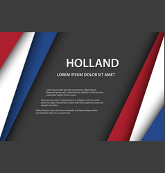 background with dutch colors and free grey space vector image