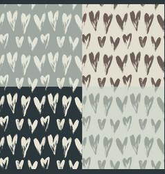 beautiful seamless heart pattern vector image