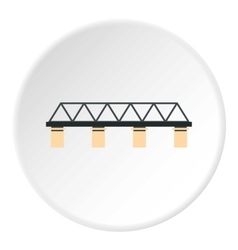 Bridge with pillars icon flat style vector