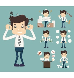 Businessman Stress Pressure Workplace Stick vector