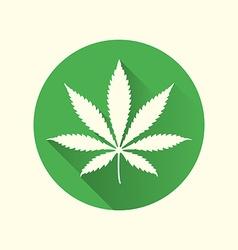 Cannabis marijuana flat design icon vector