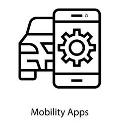 Car mobility app vector